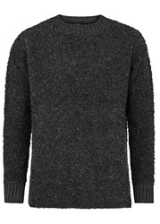 Blood Brother Founder Charcoal Boucle Jumper Grey