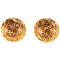 Alice Joseph Vintage Christian Dior Textured Disc Earrings Gold
