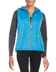New Balance Quilted Active Vest Bolt Blue