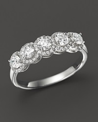 Bloomingdale's Diamond Halo Band Ring In 14K White Gold 1.0 Ct. T.W.