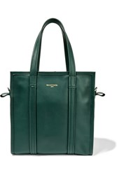 Balenciaga Bazar Leather Tote Forest Green