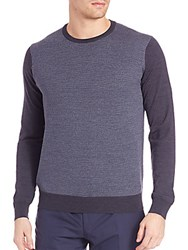 Corneliani Textured Wool Sweater Medium Blue