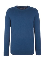 Ben Sherman Cotton Crew Neck Blue Marl