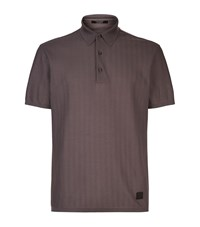 Ermenegildo Zegna Maserati Chevron Polo Shirt Male Brown