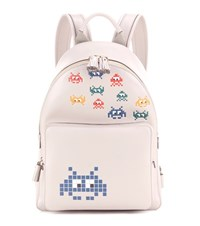 Anya Hindmarch Mini Space Invaders Leather Backpack Grey