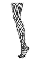 Topshop Sporty Fishnet Tights Black