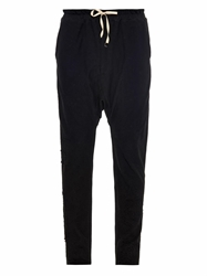 By Walid Vintage Lace Embellished Track Pants