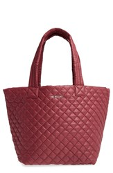 M Z Wallace Mz 'Medium Metro' Quilted Oxford Nylon Tote Burgundy Maroon