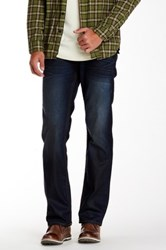 True Religion Flap Pocket Basic Straight Leg Jean Blue