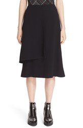 Public School Women's Asymmetrical Midi Skirt Black