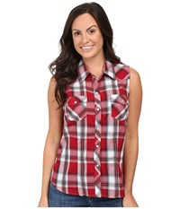 Roper 0379 Red Black Plaid Red Women's Sleeveless