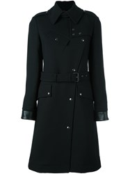 Belstaff Belted Military Coat Black