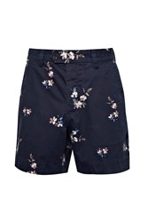 French Connection Blossom Cotton Shorts Blue