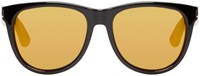Saint Laurent Black And Gold Sl 101 Surf Sunglasses