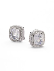 Adriana Orsini Cushion Cut Clip On Earrings Crystal
