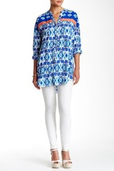 Plenty By Tracy Reese Henley Printed Tunic Multi