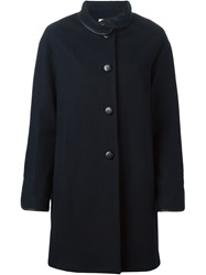 Sessun Loose Fit Buttoned Coat Blue