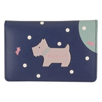 Radley Over The Moon Leather Card Holder Navy