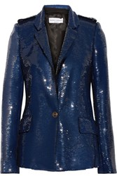 Sonia Rykiel Sequined Crepe Jacket Storm Blue