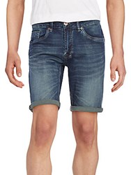Buffalo David Bitton Six X Cuffed Denim Shorts Whiskered