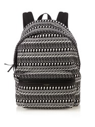 Saint Laurent City Skeleton Print Backpack Black Multi