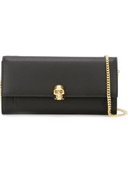 Alexander Mcqueen Wallet With Chain Black