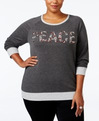 Styleandco. Style Co. Plus Size Peace Graphic Top Only At Macy's Grey Heather