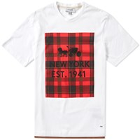 Coach Plaid Print Tee White