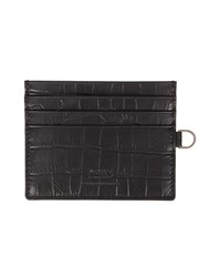 Armani Collezioni Black Crocodile Leather Card Wallet