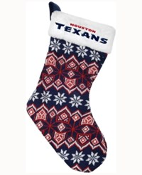 Forever Collectibles Houston Texans Ugly Sweater Knit Team Stocking Navy