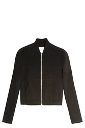 Alexander Wang Brushed Bomber Jacket Black