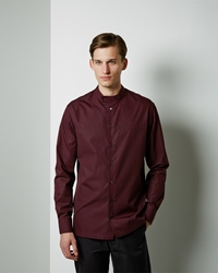 Marni Corean Neck Shirt Dark Burgundy