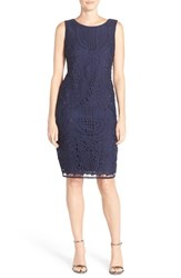 Chetta B Women's Lace Sheath Dress Navy