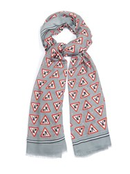 Anya Hindmarch Men At Work Modal And Cashmere Scarf Red Multi