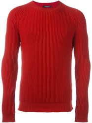 Roberto Collina Ribbed Jumper Red