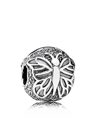 Pandora Design Pandora Clip Sterling Silver Lacewing Butterfly Moments Collection