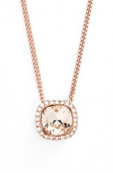 Women's Givenchy 'Legacy' Pendant Necklace Rose Gold Crystal