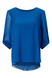 James Lakeland Pleated Back Shirt Royal Blue