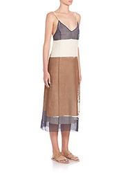 The Row Mucca Colorblock Dress Ivory Multi