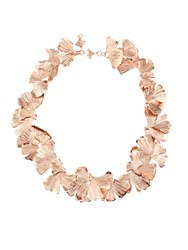 Aurelie Bidermann Ginkgo Rose Gold Plated Necklace