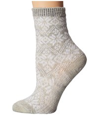 Smartwool Traditional Snowflake Ash Heather Women's Crew Cut Socks Shoes Beige