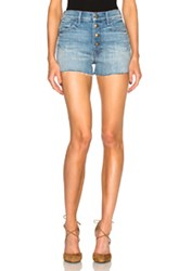Mother Swooner Snap Down Shorts In Blue