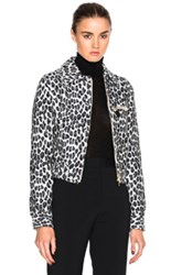 Stella Mccartney Leopard Print Jacket In Gray Animal Print Gray Animal Print
