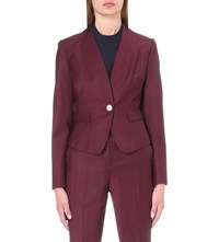 Ted Baker Deliha Wool Blend Jacket Oxblood