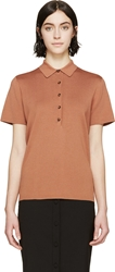 Burberry Orange Knit Polo Shirt