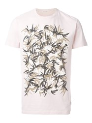 Marc Jacobs Leaf Print T Shirt Pink And Purple