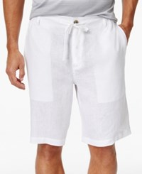 Tasso Elba Drawstring Shorts Only At Macy's White