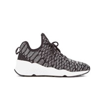 Ash Women's Magma Snake Print Knitted Running Trainers Black Grey
