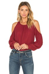 L'academie The Shoulder Blouse Burgundy