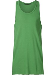 Haider Ackermann Silk Vest Green